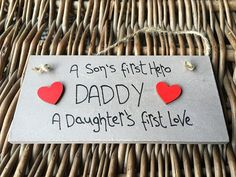 Little Miss Scrabbled - Shabby Chic Personalised Wooden Brown Plaque 'DADDY. Birthday Gift For Him, Unique Birthday Gifts, Boy Birthday, Happy Birthday, Wooden Plaques, Wall Plaques, Little Miss, As You Like, Gifts For Him