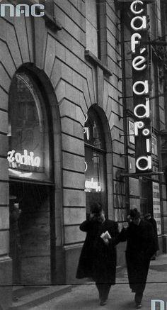 Jan Kryst dokonuje zamachu w Adrii - e-kartka z Warszawy What Is Vintage, Cherry Vodka, Vintage Vibes, Warsaw, Vintage Travel, Budapest, Funny Pictures, Neon Signs, Black And White