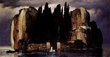 アルノルト・ベックリン「死の島」(ライプツィヒ造形美術館版)