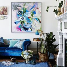 My clever friend @alimcnabneystevens has a new range of incredible art work available through @greenhouseinteriors some of the work was photographed in my home and I think it all looks amazing! Don't you? Photo by @armellehabib styling by @juliagreenstylist artwork @alimcnabneystevens location @paulamillsloves
