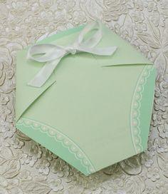 Baby Shower Invitation Template: Green Diaper