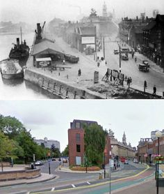 """These fascinating 'then and now"""" images show how streets and market places have changed over the decades. While some have survived relatively untouched, others are almost unrecognisable,. Old Pictures, Old Photos, Yorkshire City, Hull England, Kingston Upon Hull, Hull City, Street Look, Local History, Picture Show"""