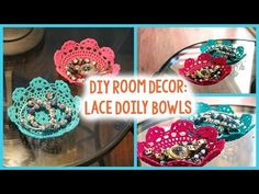 Doily Bowl Tutorial: Colorful Lace Bowls - Darice