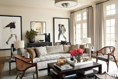 Love the chairs (By Russell Groves Via Architectural Digest