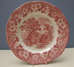 Vintage Woodland UnicornTableware Plate / Dish 24.5cm - Red & White | eBay