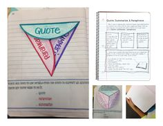 Citing evidence is made easier when kids know the difference between Quoting, Summarizing, and Paraphrasing! This set on TpT includes a page of notes and an interactive (cut and fold) page that can be used with any text you're teaching.