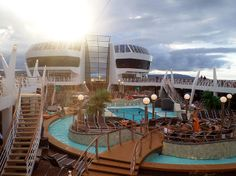 The MSC Divina pool deck. Looking forward to learning and experiencing more of this ship soon!