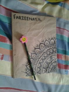 I took a plain notebook and added a bit of this and that turning it into this! I love this amazing zentangle notebook oh and did i mension i also DIYed the pencil yea ikr