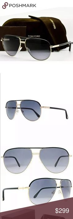 ec64737a1846 Tom Ford TF 285 COLE 01B Gold Black Grey Gradient BRAND NEW Tom Ford  SUNGLASSES Color