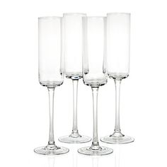 Simple, pure and elegant for every occasion. Laurel Champagne Flutes, $23.80 per set