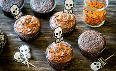 Chocolate-Whiskey Halloween Cupcakes? Yes, Please!