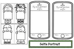 "Back to school activities: FREE ""My Selfie"" portrait packet. Cute activities for back to school. Fun icebreaker that makes a sweet bulletin board too."