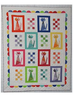 Scrappy Kitten baby quilt pattern from Carolyn Hughey of Quilting Up a Creek