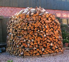 """When the chill comes back into the air and the leaves start to show their true colors, those of us who heat with wood start itching to """"get the wood in"""" Firewood Rack, Firewood Storage, Stacking Firewood, Long Winter, Outdoor Fire, Wood Pieces, True Colors, Home Projects, Countryside"""
