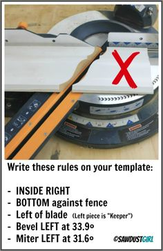 How to cut Crown Molding using easy Templates