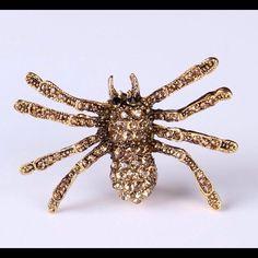 Punk Baroque Tarantula Spider Brooch