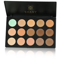 Tired of unwanted flaws, dont worry, everyone has those, but the solution is simple. Try our new foundation or concealer palette and say hello to your new look. Get the full coverage you always expected from new Shany palette.