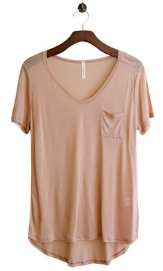 Flimsy Boyfriend Tee, Peach - Conversation Pieces