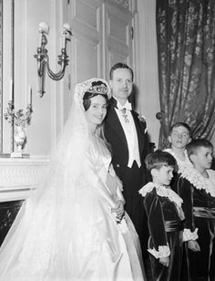 Marriage Of Prince Edouard Lobkowicz And Princess Marie Of Bourbon Parma at the Ritz Paris, January 7th, 1960.