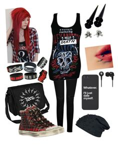 """""""Untitled #123"""" by mychemicalromance-mcrmy ❤ liked on Polyvore featuring rag & bone, King Baby Studio, Skullcandy and Converse"""