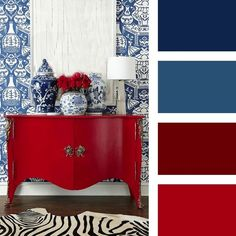 Red Curtains Living Room, Living Room Decor Colors, Bedroom Wall Colors, Living Room Color Schemes, Colour Schemes, Red Color Pallets, Living Room Color Combination, Red Home Decor, Sofa Colors