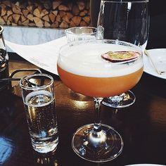 Pornstar Martini #cocktail - passion fruit, vanilla vodka, passion fruit liqueur, vanilla syrup & a shot of prosecco