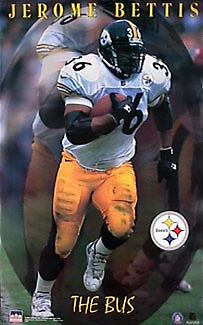 """Jerome Bettis """"The Bus"""" Pittsburgh Steelers Poster"""