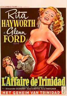"Rita Hayworth, film poster for ""Affair in Trinidad"", 1952"