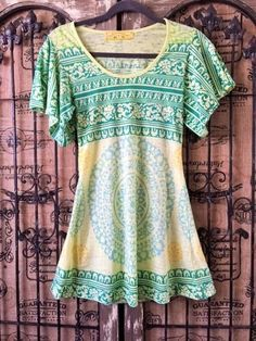 Free People Raw Edge Flutter Sleeves Long Tunic Top Size S #FreePeople #Tunic #Any