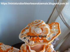 Vestido dA Bela e a Fera em Crochê Para Bonecas com Passo a Passo de Pecunia MillioM 7