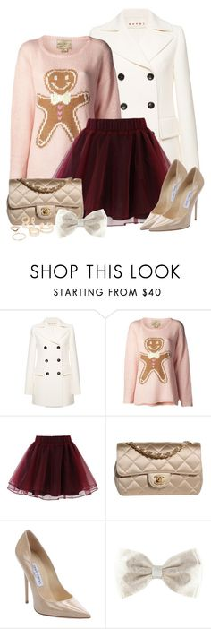 """Untitled #397"" by foreverdreamt ❤ liked on Polyvore featuring Marni, Wildfox, Chicwish, Chanel, Jimmy Choo, MANGO, Winter, outfit and outfitonly"