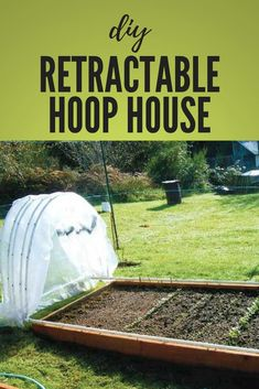 Garden Planning Retractable hoop houses are perfect for the indecisive weather of early spring. - A PVC hoop house lets you grow raised bed greens in the snow. Building A Raised Garden, Raised Garden Beds, Raised Beds, Greenhouse Plans, Greenhouse Gardening, Container Gardening, Greenhouse Growing, Raised Vegetable Gardens, Vegetable Garden Design