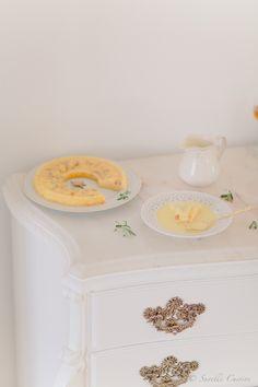 Semolina Cake with Creme Anglaise * Bolo de Sêmola com Créme Anglaise  suvellecuisine.com