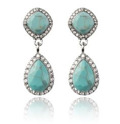 SAMANTHA WILLS - NEW YORK KISS DROP EARRINGS - TURQUOISE