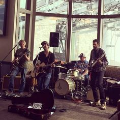 Jeff Campbell Band at KFOG Ditch day in Squaw Valley with DJ Renee Richardson.