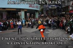thats why japan is awesome :) They dressed as Naruto and Sasuke....and I shoulda been there...