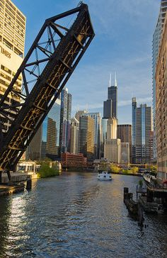 Sears Tower from the Kinzie St. bridge by michaeltminella, via Flickr