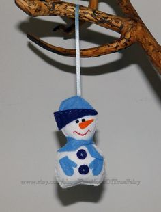 Snowman from felt Christmas toys Gifts by CreationsOfTrueFairy