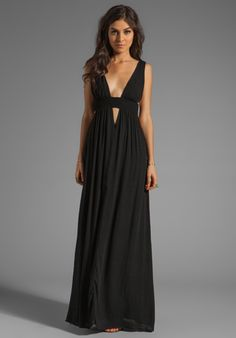 INDAH Anjeli Empire Maxi Dress in Black at Revolve Clothing - Free Shipping! FORMAL