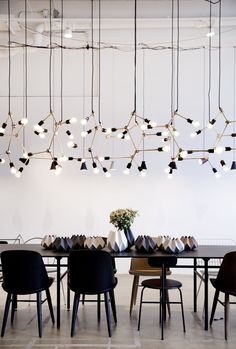 Contemporary Lighting from Studio Italia Design Interior Lighting, Home Lighting, Modern Lighting, Lighting Design, Lighting Ideas, Design Moderne, Deco Design, Dining Room Inspiration, Interior Inspiration