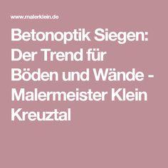 Betonoptik Siegen: Der Trend für Böden und Wände - Malermeister Klein Kreuztal