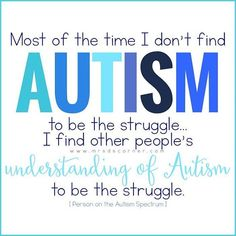 Autism behavior management, Indicators & Signs and also Early treatment assistance understanding for young moms and dads Autism Awareness Quotes, Autism Quotes, Autism Awareness Month, Autism Sensory, Autism Activities, Autism Resources, Sensory Toys, Sensory Activities, Autism Education