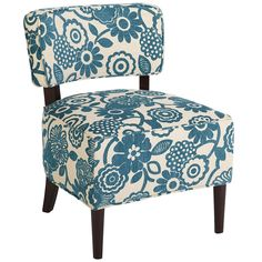 Cadman Chair - Teal Floral - Pier1 US