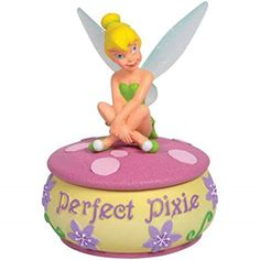WL SSWL18534 Tinker Bell Pixie CrossLegged on PinkCream Trinket Box 425 ** See this great product. (This is an Amazon Affiliate link and I receive a commission for the sales)