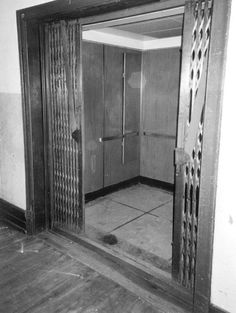 Vintage Photo of Hudson's Department Store in Detroit, MI, One of the modernized elevators.
