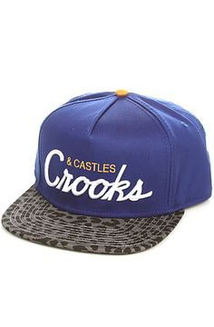 The Team Crooks Snapback Hat in Cobalt Cheetah by Crooks and Castles use rep code: OLIVE for 20% off