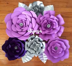 Set of 6 mixed sizes Giant Paper Flower Backdrop by ShopOliposa