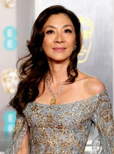 One of the most important aspects of good style is knowing your sweet spot; what you're built for, what people respond most to, what archetype or persona Asian American Actresses, Michelle Yeoh, Beautiful People, Beautiful Women, Elie Saab Couture, Embellished Gown, Celebs, Celebrities, Pretty Woman