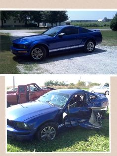 Before distracted driving After distracted driving....always pay attention.