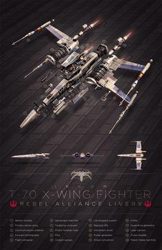 X-Wing concept art by our friend Devin Schoeffler . Keywords: star wars x-wing fighter digital concept spaceship art design work by devin. Star Wars Fan Art, Star Wars Film, Star Trek, Nave Star Wars, Star Wars Ships, Star Wars Poster, Star Wars Spaceships, X Wing Fighter, Star Wars Vehicles